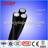 Kabel-Triplex Kabel ABC-Luftkabel der Niederspannungs-600V zusammengerolltes für obenliegende Übertragung