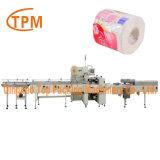 Envoltura de papel higiénico de la máquina de embalaje de rollos de papel higiénico