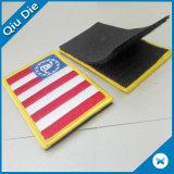 Ткань вышивки патч с липучкой для резервного копирования