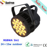 Outdoor IP65 24 * 18W 6in1 full-color LED PAR Can Luz