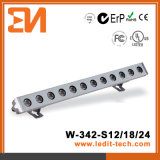 Los medios de iluminación de Fachada LED bañador de pared (H-342-S18-RGB)