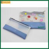 Bolso lindo de la bolsa del bolso del lápiz del bolso TPU del papel de la cremallera de la manera