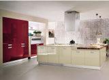 Armadio da cucina alto moderno di vendita caldo della lacca di lucentezza di Ritz