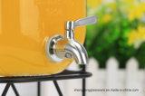 Tarro de cristal caliente de la bebida de la venta 4L/5L/8L/dispensador de cristal del agua con el golpecito