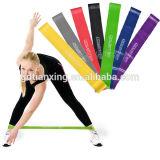 Vendas naturales del bucle del ejercicio de resistencia del látex del 100%