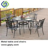 Таблица напольного литого алюминия обедая и мебель сада стула