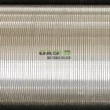 Cable de la cuña de rejilla de acero inoxidable V Hilos el tubo de perforación de pozos de agua de la fábrica de Oasis