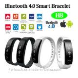 Le bracelet intelligent de vente chaud de 2017 Android&Ios Bluetooth avec IP56 imperméabilisent H8