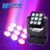 9X10W 4в1 RGBW ИНДИКАТОР ДАЛЬНЕГО СВЕТА Matrix перемещение головки Professional Lighting