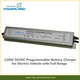 120W 36VDC programável para carregador de bateria veículo eléctrico com gama completa