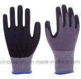 Nitriles de Microfoam et gants fonctionnants enduits par paume à base d'eau d'unité centrale