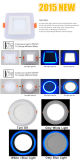 AC85-265 Encastrement 145mm 6W rond en LED couleur double LED