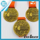 Изготовленный на заказ Golden Running город Medal Newry марафона