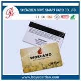 Cartão lustroso colorido do PVC com listra magnética