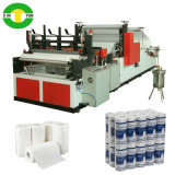 Rebobinamento de alta velocidade Edge Trimming Tower Tissue Rolling Machine Equipment