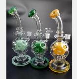 Drie Kleuren van de Terugwinning van de Waterpijp van de Filter van de Pijp van de Rook van het Glas