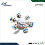 Seis Braços do Dedo do rotor do lado de liga o rotor Fidget compatível com rotor para marcação, RoHS, EN71
