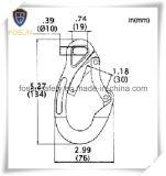 Алюминиевый крюк безопасности Пластмасс-Заволакивания (dB20L)