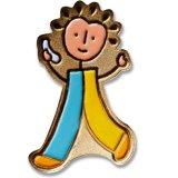 직매 개인화된 주문 금속 귀여운 아이 모양 접어젖힌 옷깃 Pin