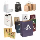 Sacchetto dell'imballaggio di acquisto del regalo riciclato abitudine di lusso della carta kraft