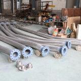 Trenzado de alambre ondulado de la manguera de metal flexible con la brida