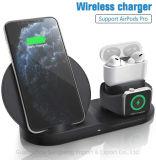 Oplader voor mobiele telefoon, drie-in-één snelle oplader, draadloze oplader voor iPhone 12 11, Apple Watch, iPhone Airpod, Samsung Galaxy Note, etc.