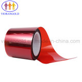 25µ/36µ/50µ/75µ/100µ/125um vermelho transparente/película de protecção de PET com adesivo acrílico para proteger a tela do computador