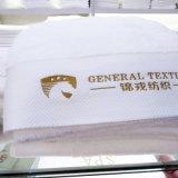 100% algodón blanco suave Toalla de baño de hotel con logotipo bordado