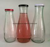 Glasflasche des Reinsaft-1L mit Metallkappe