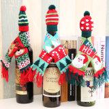 A tabela inicial de Natal lenço de decoração estilo Hat tampa da garrafa de vinho