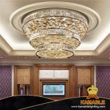 Projet personnalisé de décoration lustre en verre de fleur d'éclairage de plafond (KAJ18008)