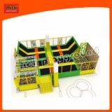 Rectangle commerciale des enfants Trampolines Parc intérieure de commerce de gros