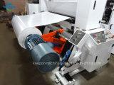 Automatische große Geschwindigkeit, welche die Rückspulenmaschine für Duplex, selbstklebend, Kennsatz, Aufkleber-Papier, Plastikfilm (HQG, aufschlitzt Modell)