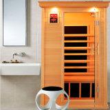 Die quadratische weites Infrarot-Sauna, die von der Schierling-und Kohlenstoff-Heizung für 1 Personen-Cer ETL als Schönheit gebildet wird, trocknen Bad