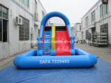 Aufblasbares blaues Wasser-Plättchen mit Pool