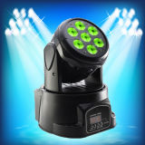 Heißes Mini-LED bewegliches Hauptwäsche-Licht des Verkaufs-7PCS*10W RGBW