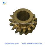 Peças de engrenagem giratória CNC de cobre com rosca interna em ferramentas / máquinas