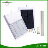 Indicatori luminosi di via flessibili alimentati solari ricaricabili dell'indicatore luminoso solare senza fili esterno impermeabile della parete della lampadina del sensore di movimento 15 LED mini