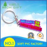 Trousseau de clés doux sensible de PVC avec la couleur pourprée