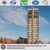 Edificio residenziale prefabbricato di tipo europeo della struttura d'acciaio