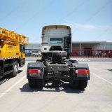 HOWO 6X4 3 차축 트랙터 트럭 팁 주는 사람 세미트레일러