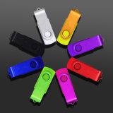 Personnalisation gratuite Logo USB 2.0 Flash Drive, Multicolors de mode