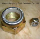 Écrous de blocage DIN985 en nylon de la pente 2 avec Cr+3 galvanisé