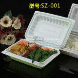 550ml blanc à compartiment unique à charnière Plasitc jetables Food Box