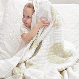 Vier van de Katoenen Lagen Deken van de Mousseline wikkelen, Pasgeboren Deken/de Deken van de Baby in