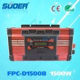 Suoer 1500W 24V 220V gelijkstroom aan AC de Zuivere Omschakelaar van de ZonneMacht van de Golf van de Sinus (fpc-D1500B)
