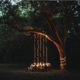 Rattan Multi hilos de cobre de alambre cálido blanco colorido árbol de Navidad luz de la cadena