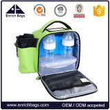 Sacchetto isolato pratico portatile del dispositivo di raffreddamento del pranzo con il supporto della latta