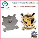Pin stampato del risvolto dell'acciaio inossidabile dei punti di promozione del metallo (KSD-1136)