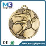 Kundenspezifische Metallschule-Sport-Medaille mit dem antiken Silber beendet